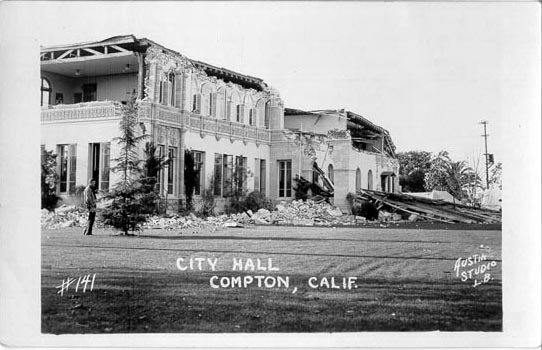 Penny Postcards From 1933 Long Beach Earthquake Los