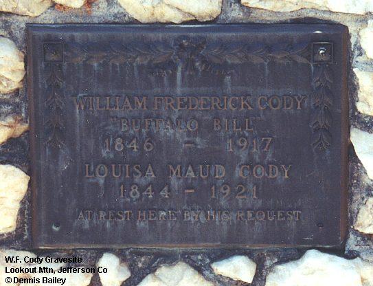 Wf Cody Gravesite Lookout Mtn Jefferson County
