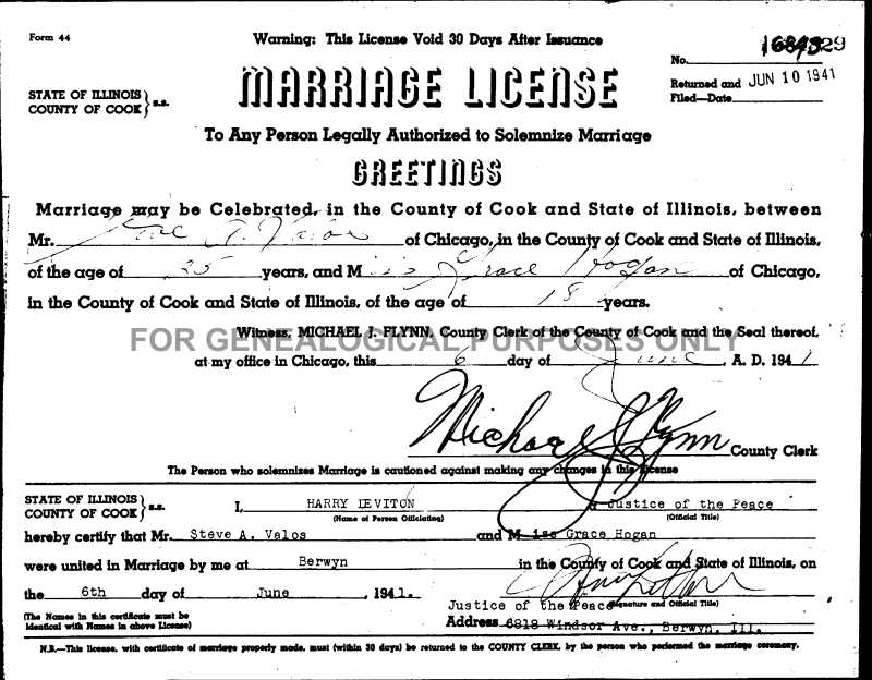 cook illinois county il grace marriages mary 1941 valos hogan steve june 77k archives hull