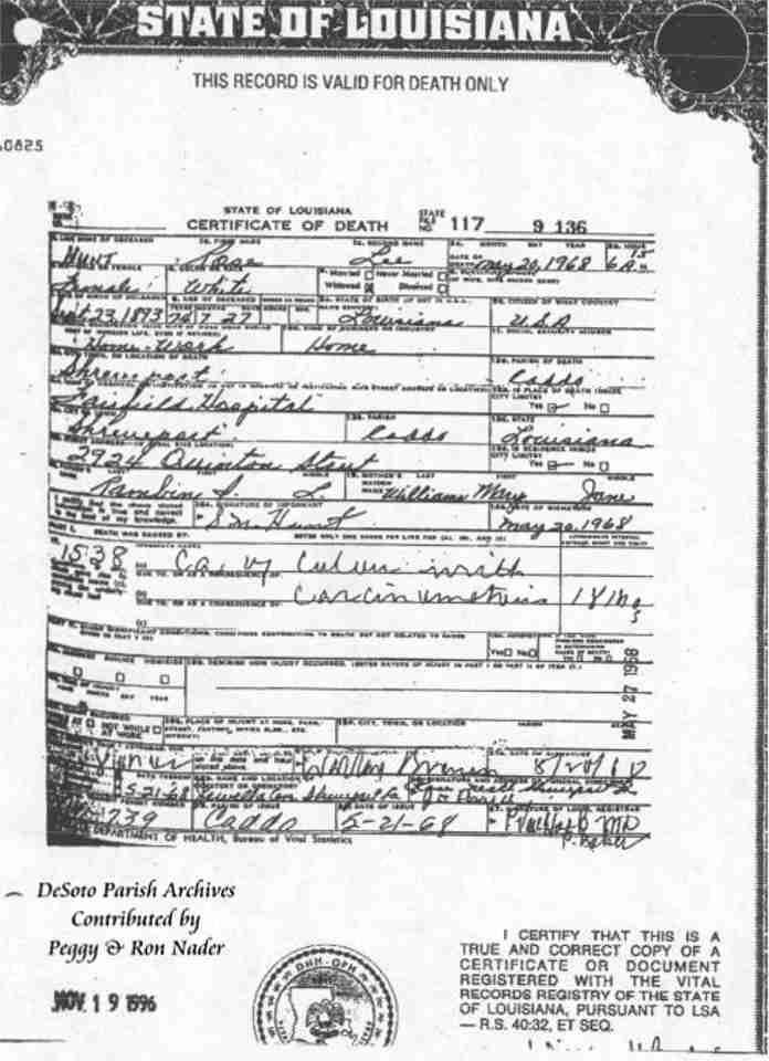 desoto parish vital records