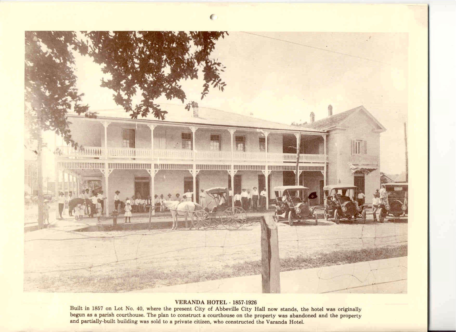 Vermilion parish photos veranda hotel for Build on your lot louisiana