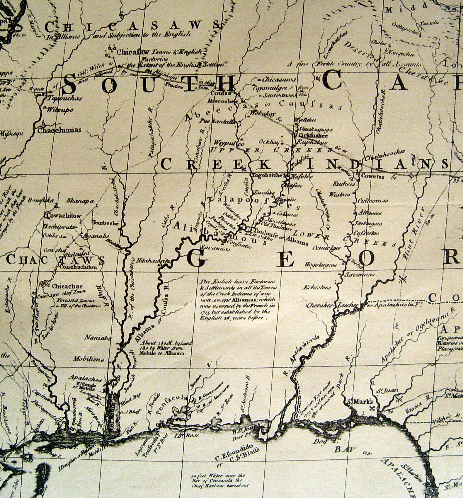 Mitchell Map Of States Of Alabama And