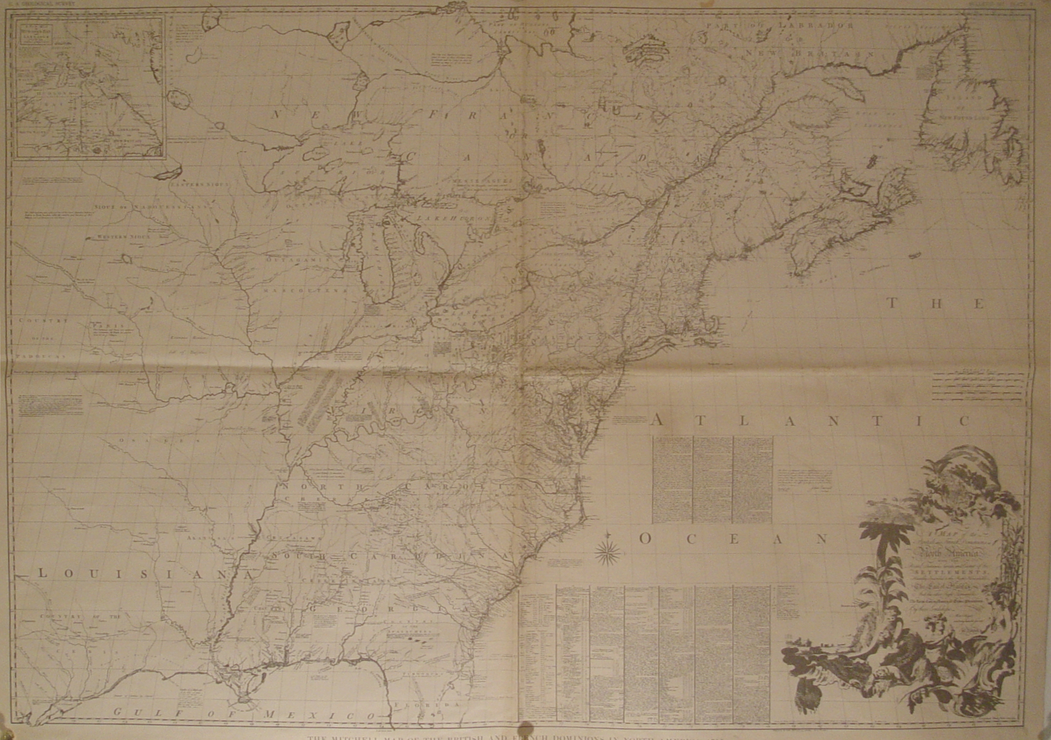 1890 Reproduction Of The 1755 Map 4 4 Mb With Detail Concerning Indians Villages And Trails Submitted By Dean Williams