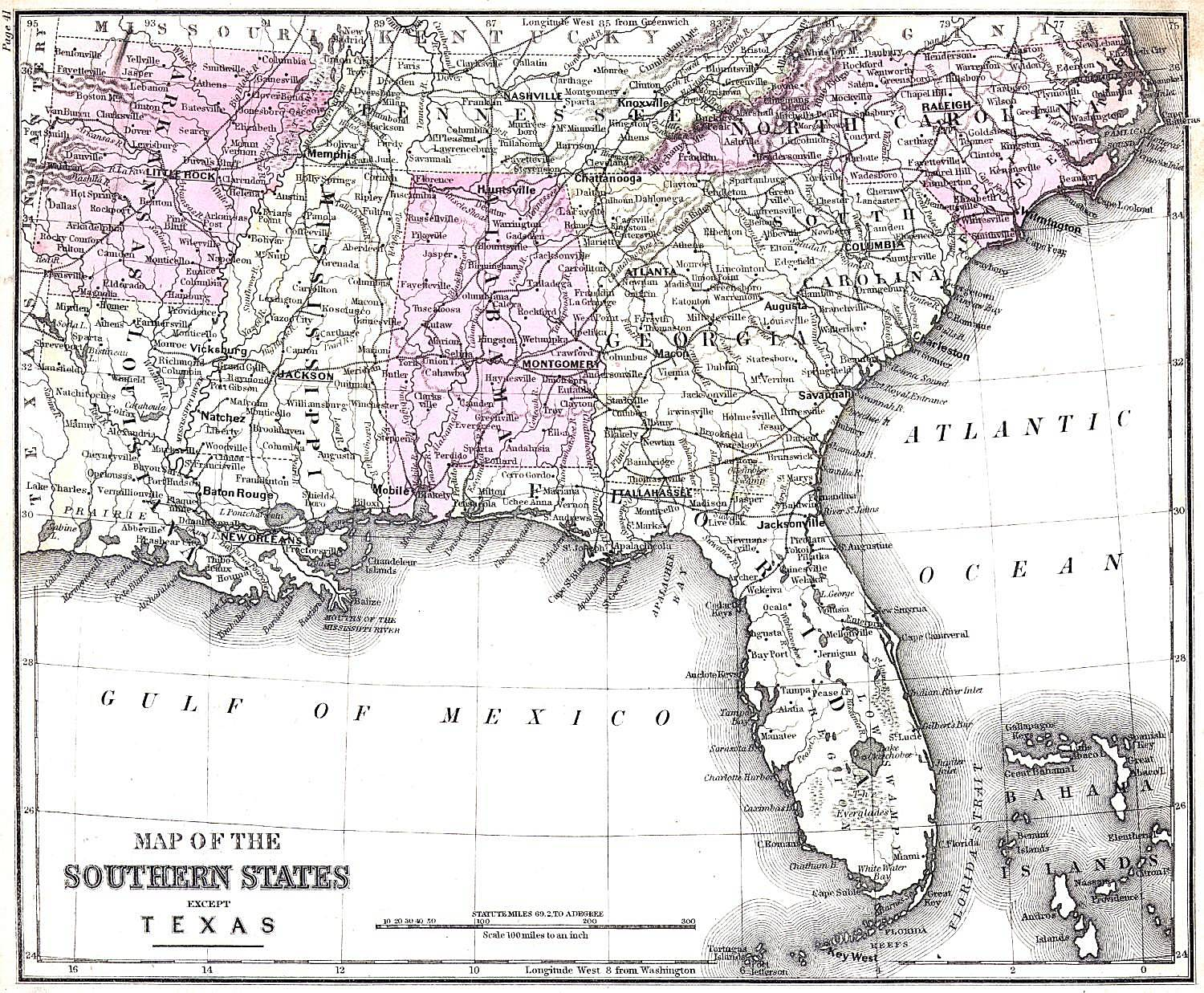 Alabama Maps Alabama Digital Map Library Table Of Contents - State map of florida with cities