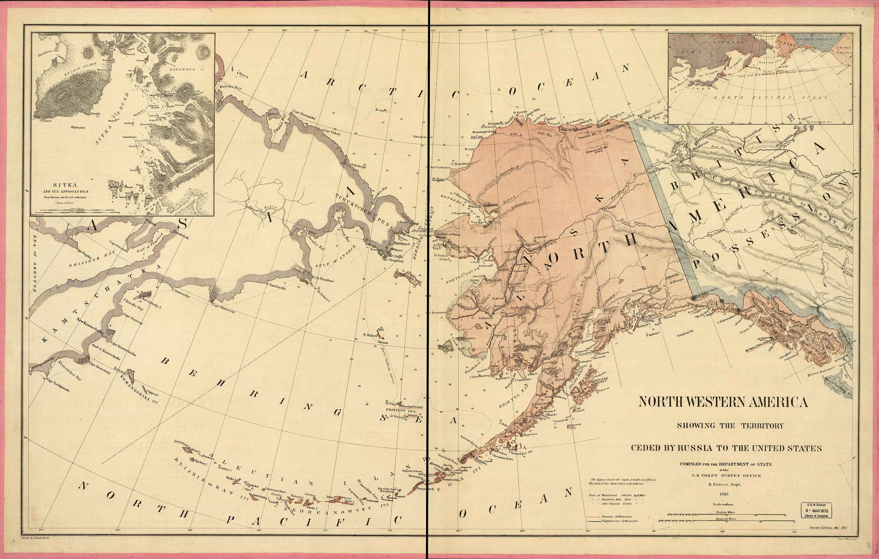 Alaska dillingham county - 1867 Map Of Alaska