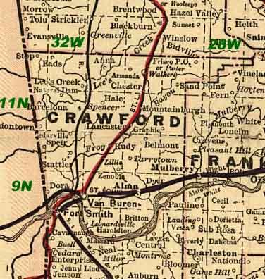 Crawford County Arkansas Maps And Gazetteers