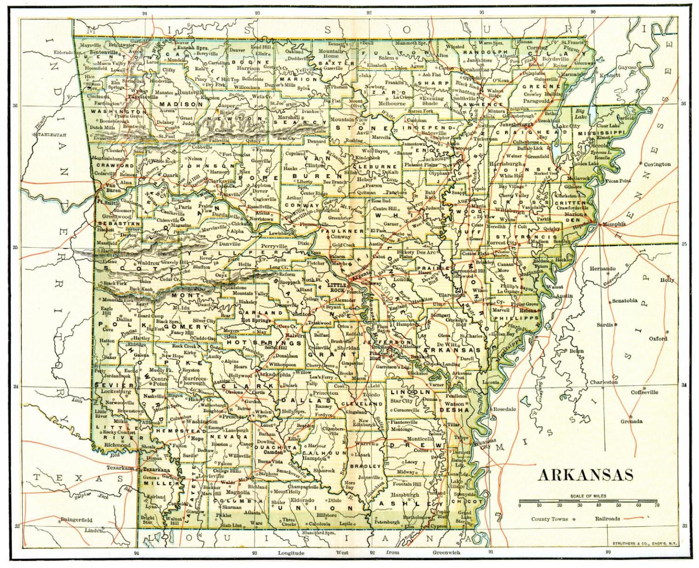 arkansas maps arkansas digital map library table of contents