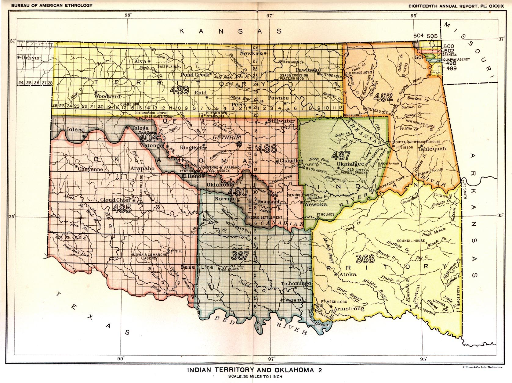 Indian Land Cessions In The U S Indian Territory Oklahoma - Oklahoma map us
