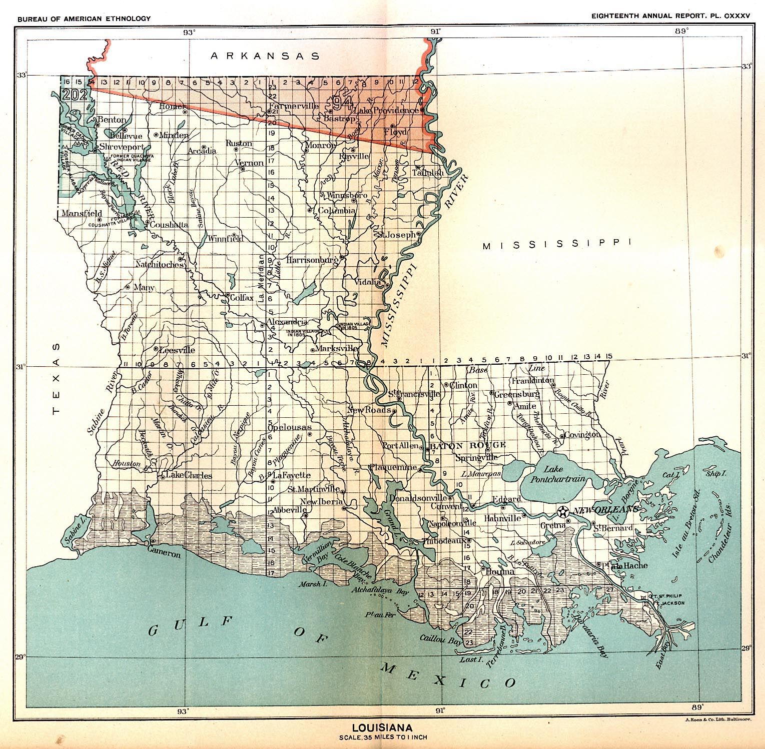 Indian Land Cessions In The U S Louisiana Map United - Lousiana map