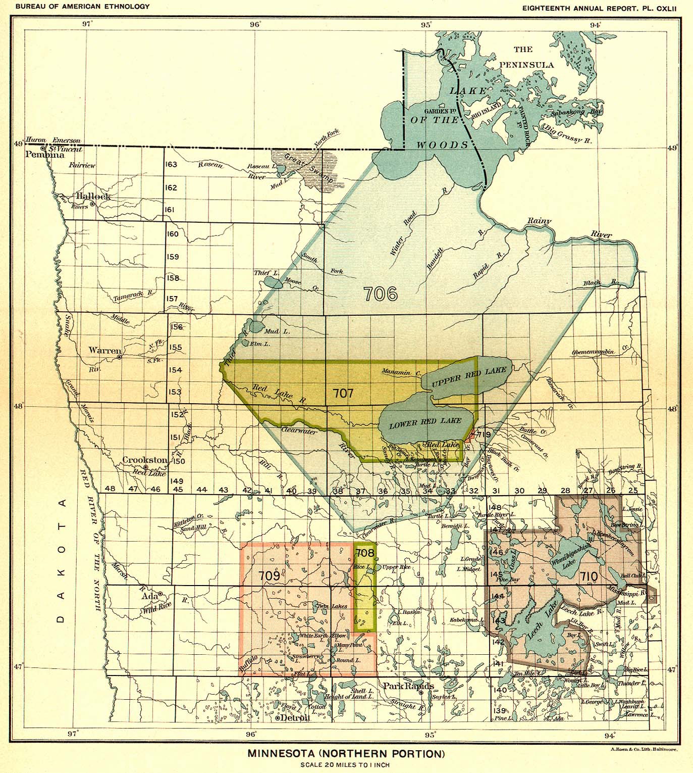 Indian Land Cessions in the U. S., Minnesota (Northern ...