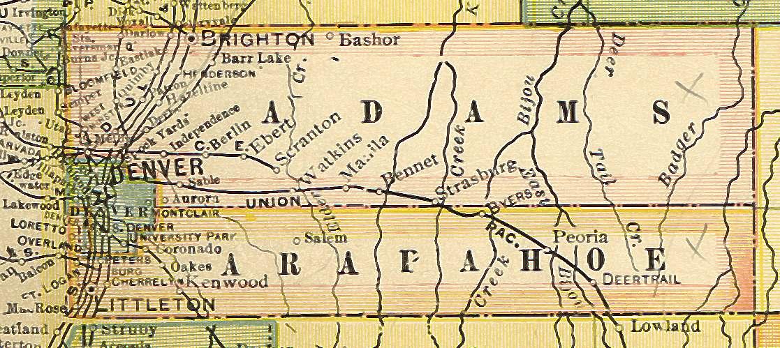 Lake County Colorado Map.Colorado County Map