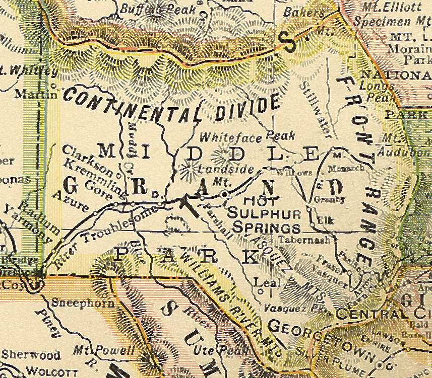 Gunnison County Colorado Map.Colorado County Map