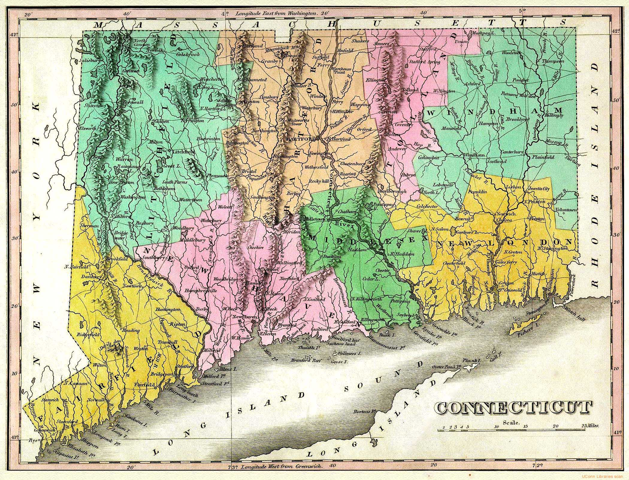 The USGenWeb Archives Digital Map Library Connecticut Maps Index