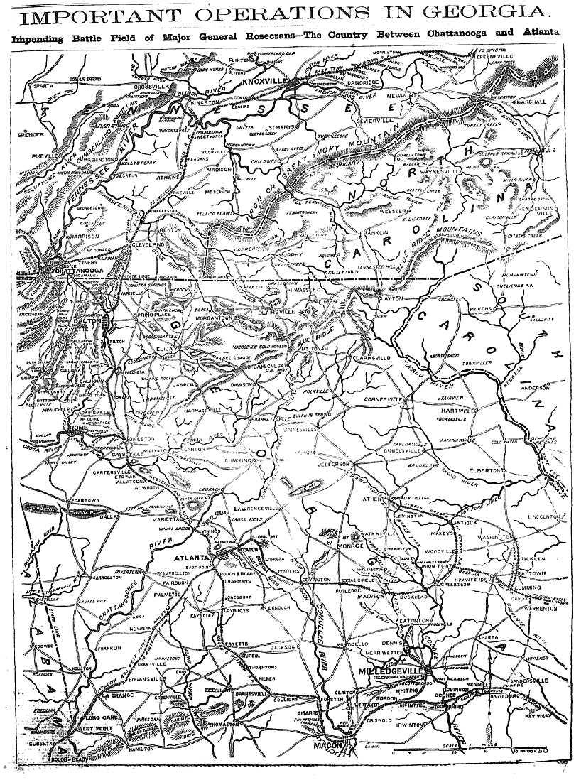 The USGenWeb Archives Digital Map Library Georgia Maps Index - Map of atlanta civil war