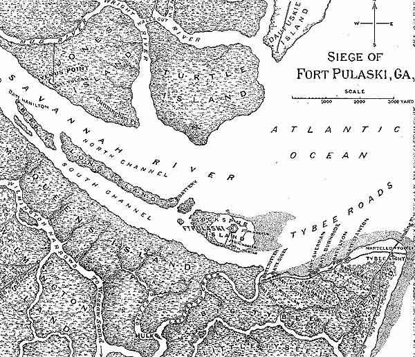 Road Map Construction Plans Area Map Graveyard Trench Profile Siege Map 2 Halleck S Map Of Batteries Against Pulaski Area Batteries