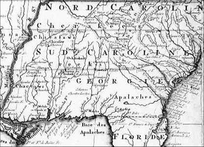 Southeastern Us Circa 1788