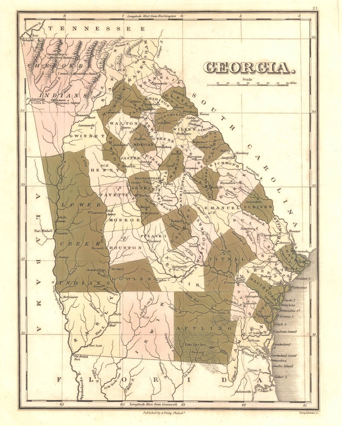 The USGenWeb Archives Digital Map Library Georgia Maps Index - Us map 1796