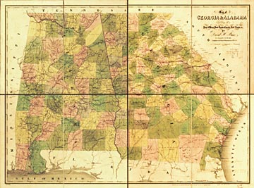 The USGenWeb Archives Digital Map Library Georgia Maps Index - Map of georgia roads