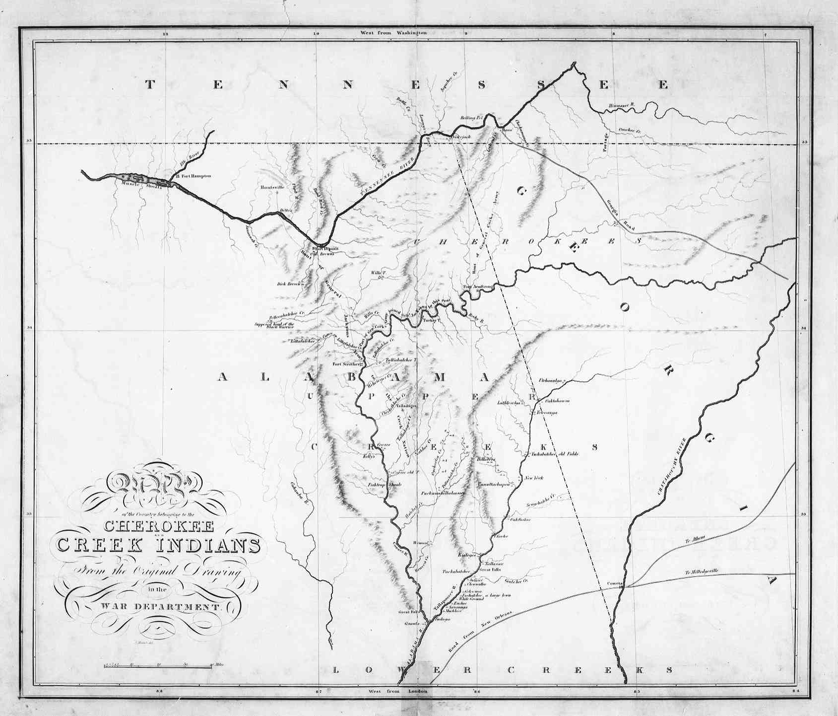 The USGenWeb Archives Digital Map Library Georgia Maps Index - Georgia map template