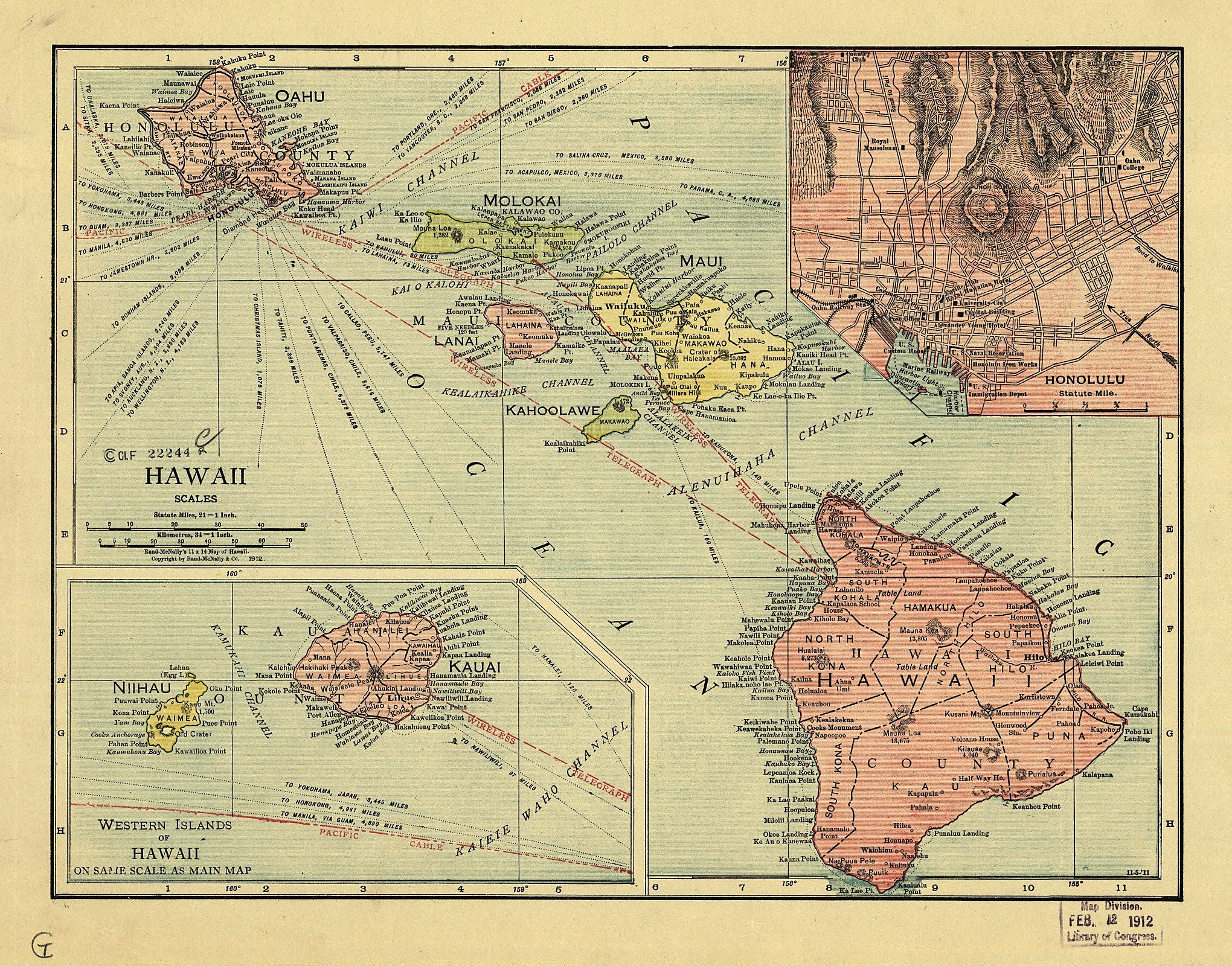 The USGenWeb Archives Digital Map Library  Hawaii Maps Index