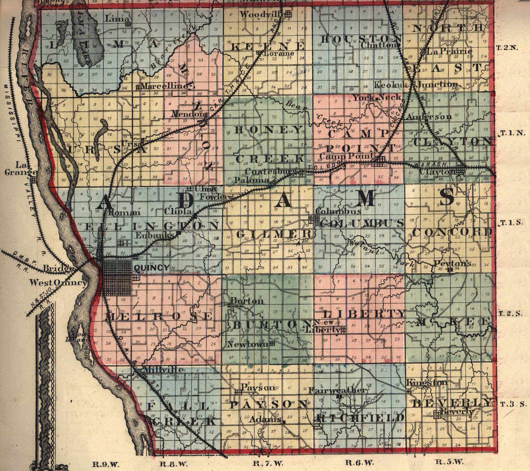 The usgenweb archives digital map library illinois maps index adams gumiabroncs Gallery