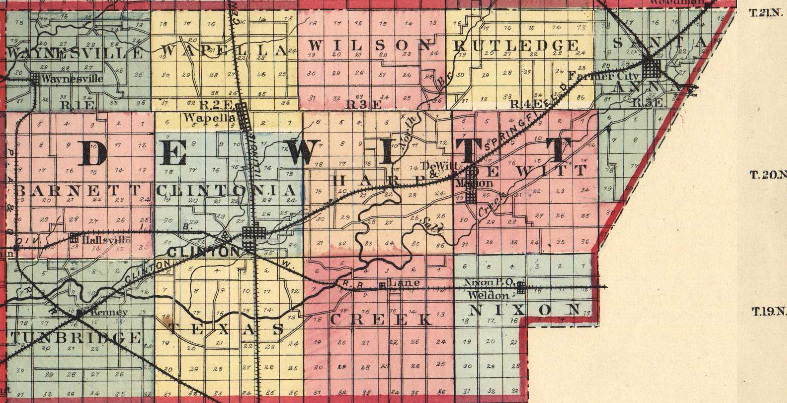 Illinois Town Map