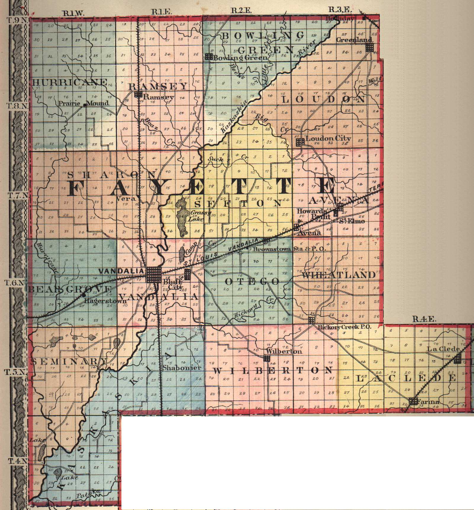 Mercer County Illinois Township Map Wire Get Free Images About - County map illinois usa