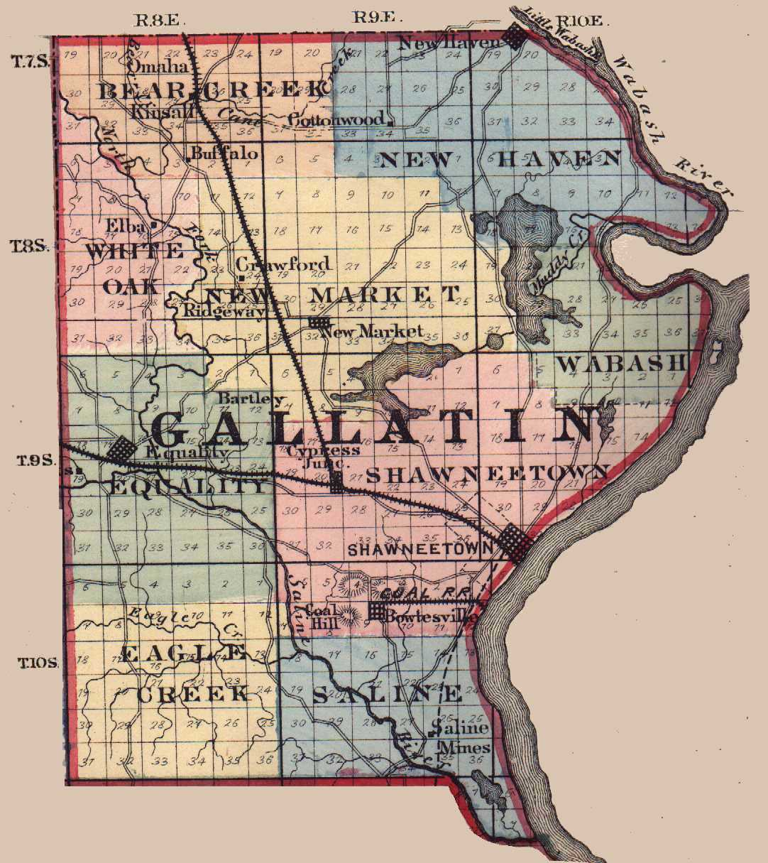 The usgenweb archives digital map library illinois maps index gallatin gumiabroncs Image collections