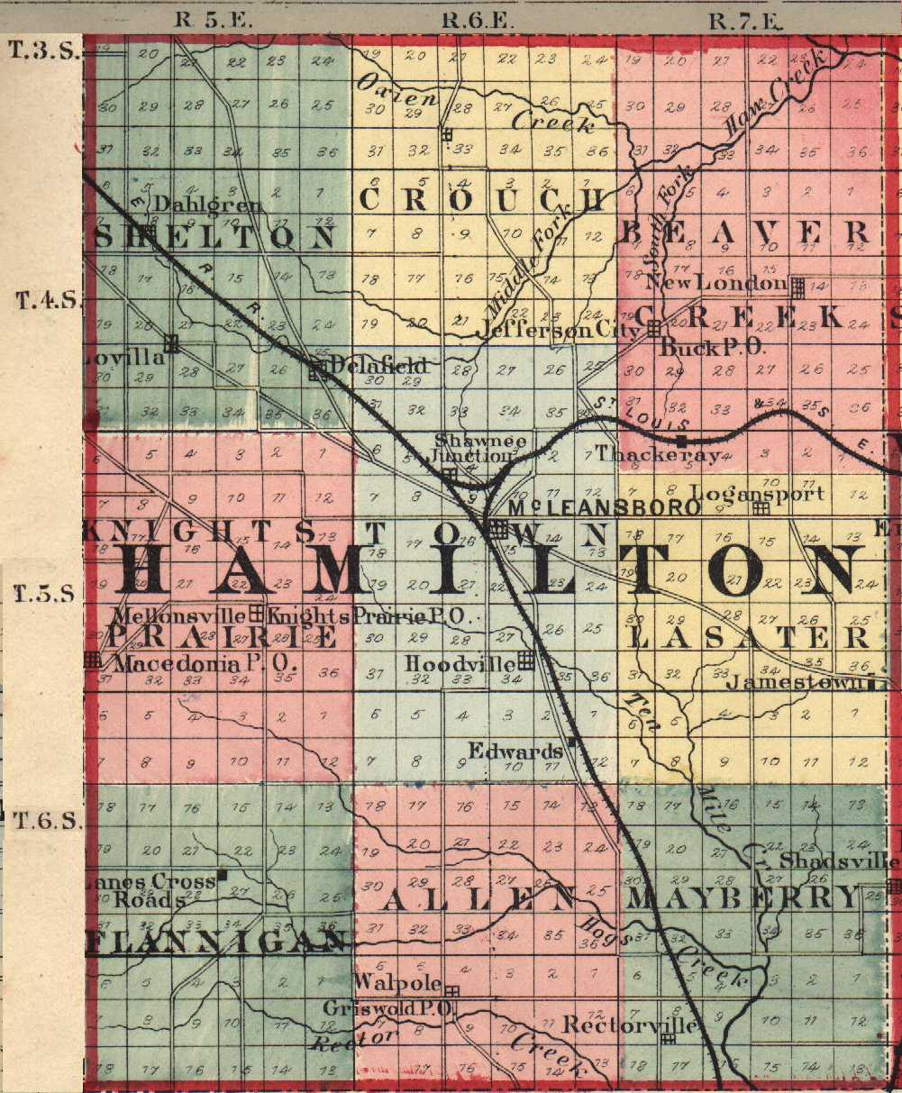 Hamilton County Illinois Maps And Gazetteers