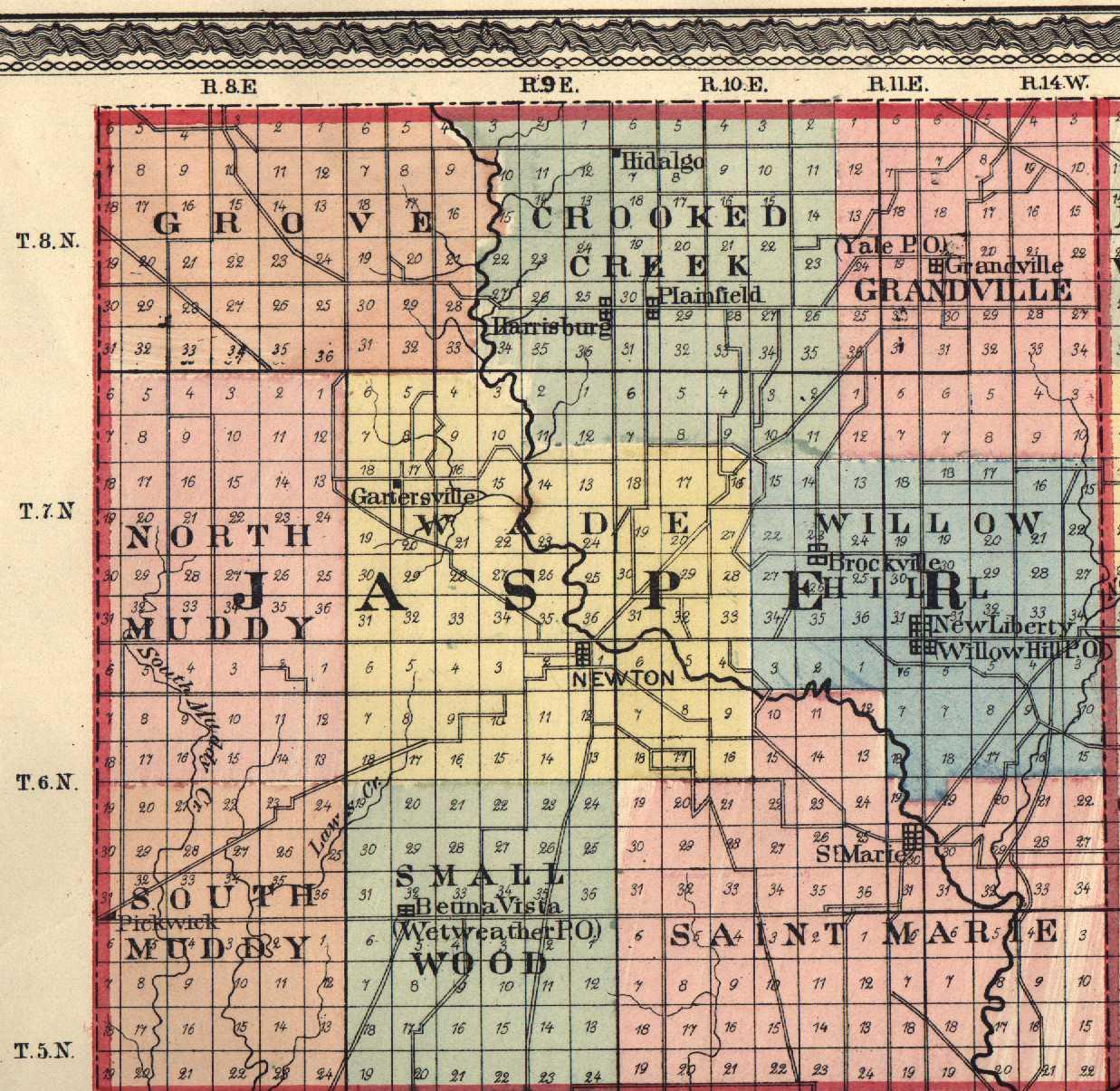 County Map Jasper Illinois