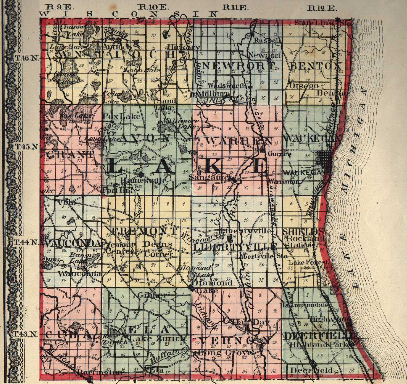 Lake County Illinois Maps And Gazetteers
