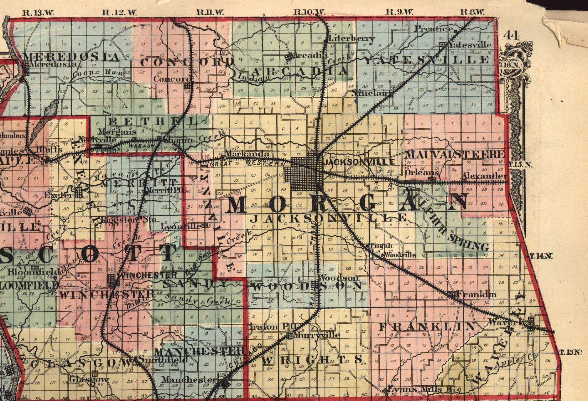 Morgan County Indiana Township Map Images Frompo 1