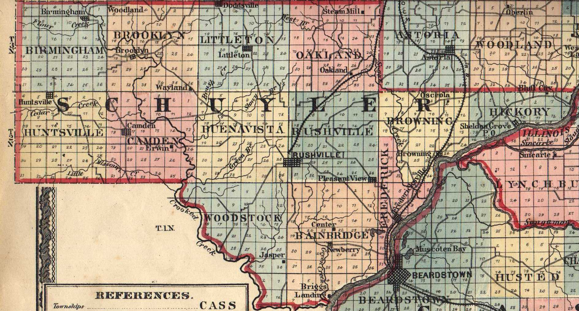 The usgenweb archives digital map library illinois maps index schuyler gumiabroncs Gallery