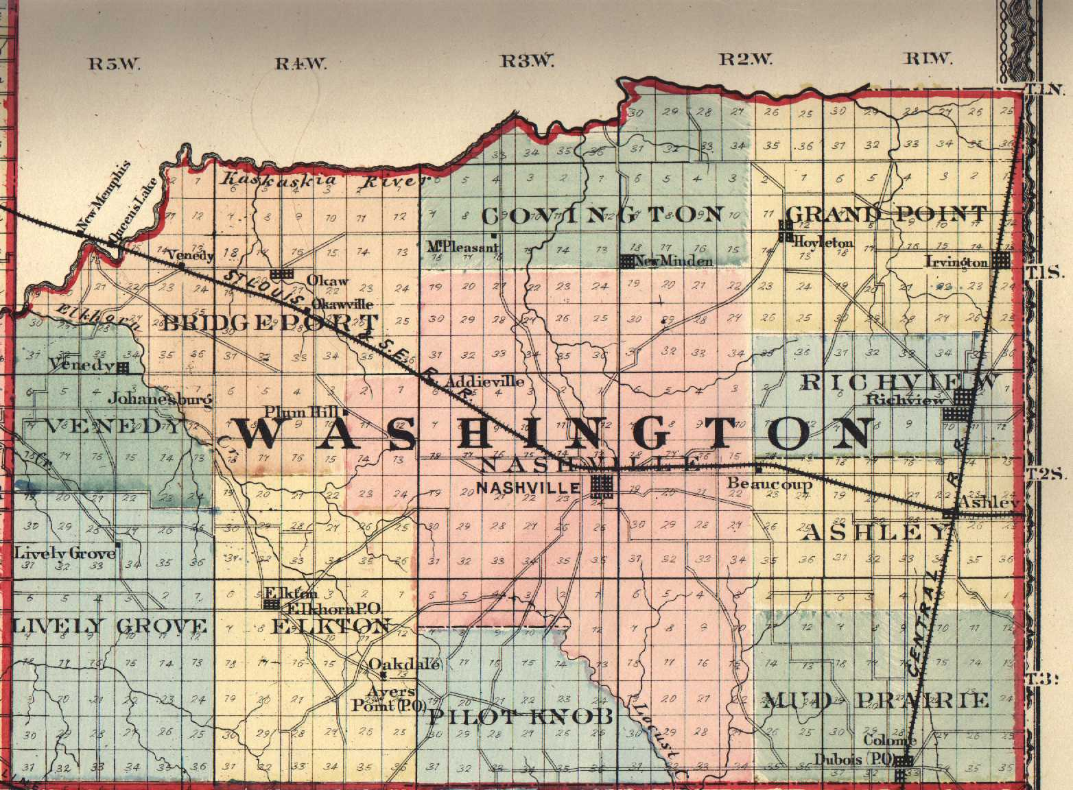 The USGenWeb Archives Digital Map Library  Illinois Maps