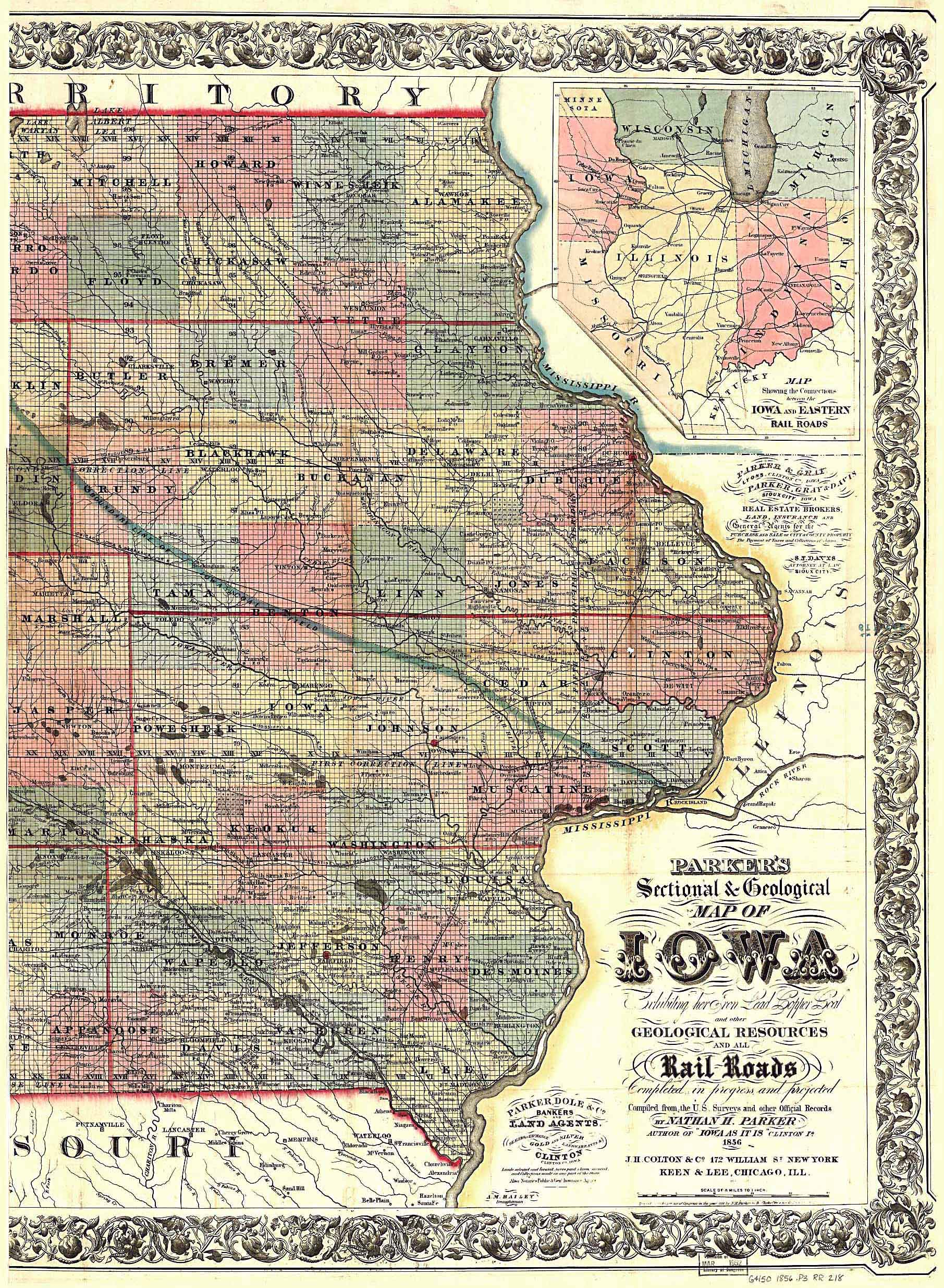 The Usgenweb Archives Digital Map Library Iowa Maps Index