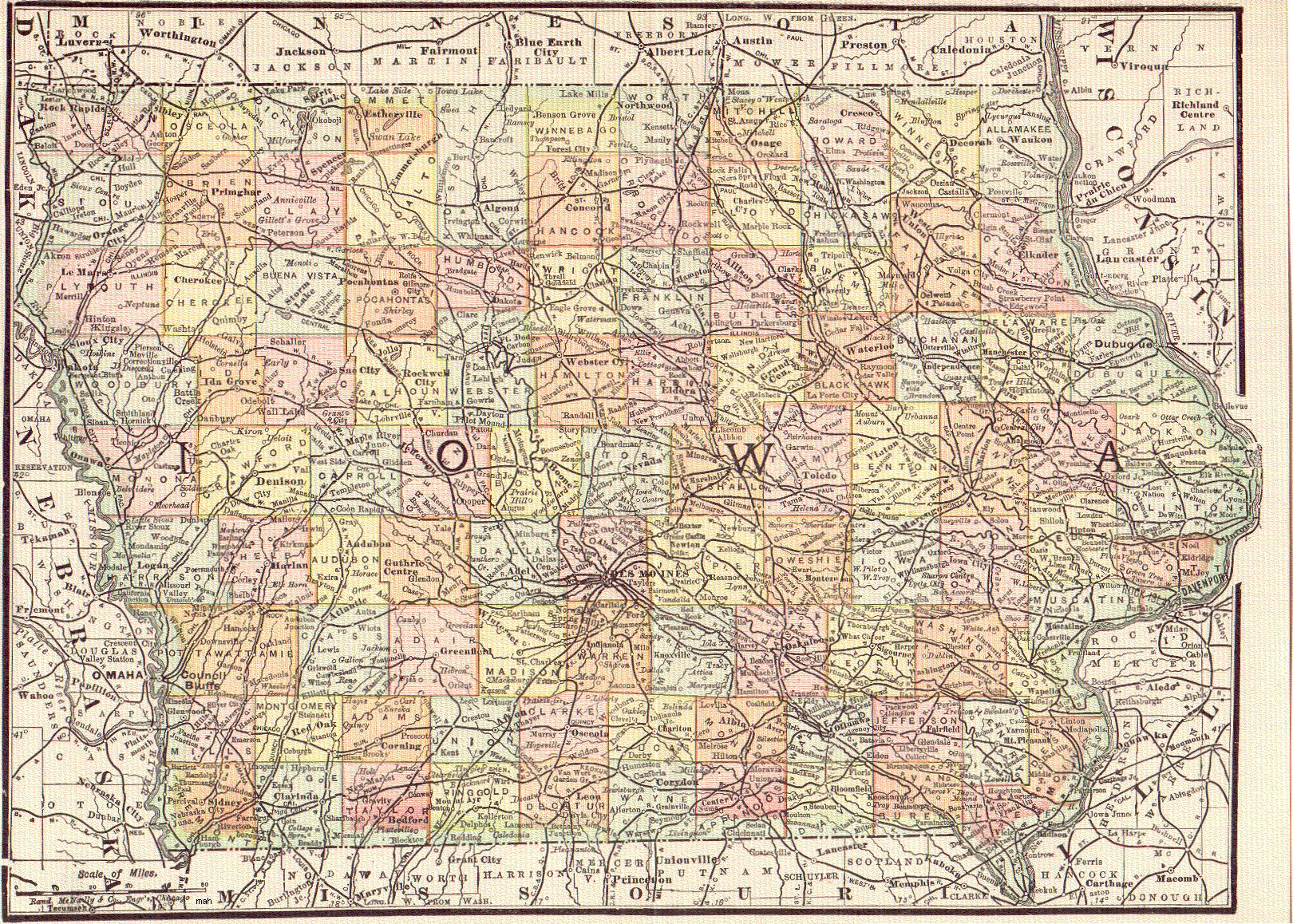 The USGenWeb Archives Digital Map Library - Iowa Maps Index.