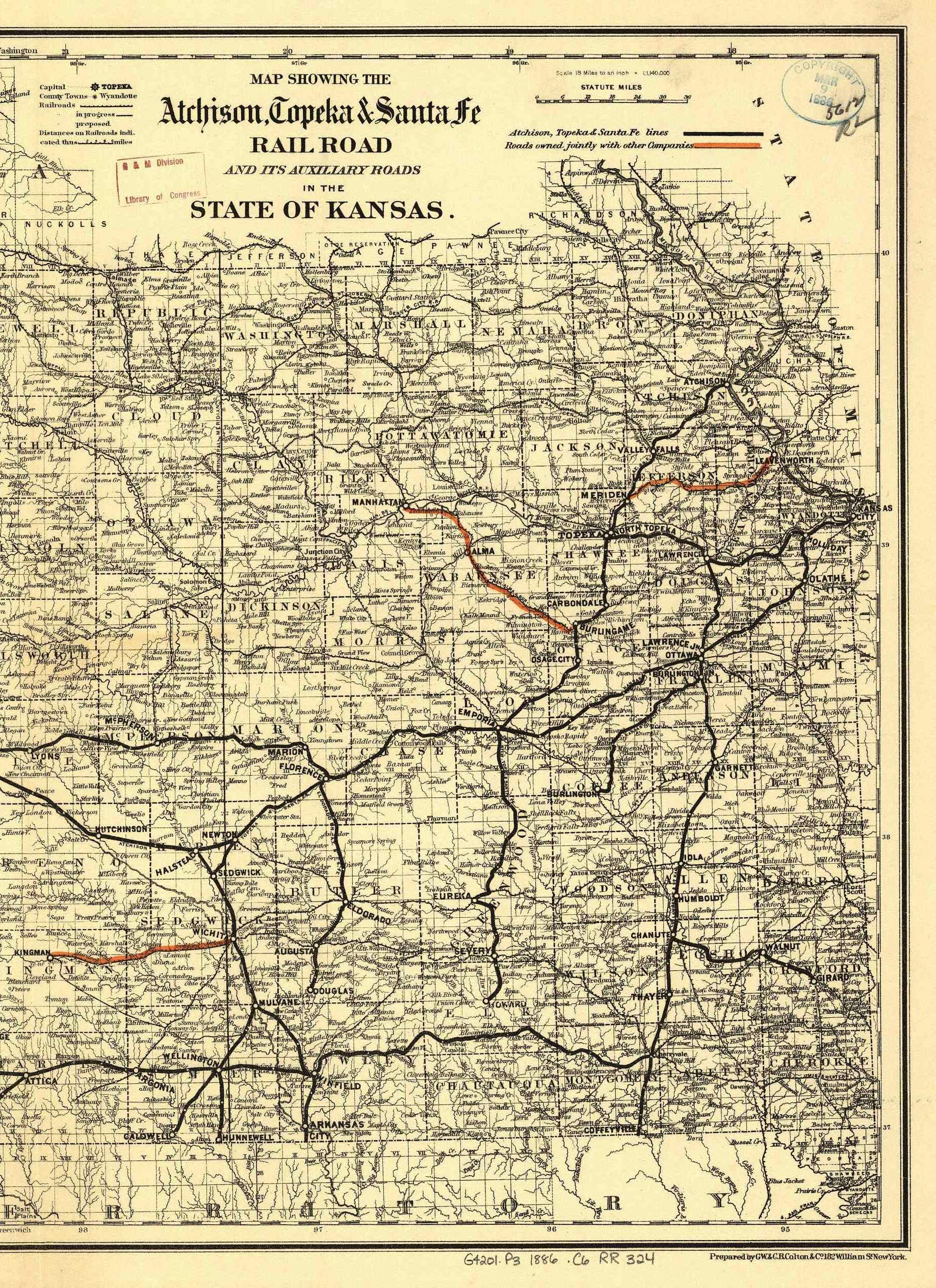 The USGenWeb Archives Digital Map Library Kansas Maps Index - Maps of kansas