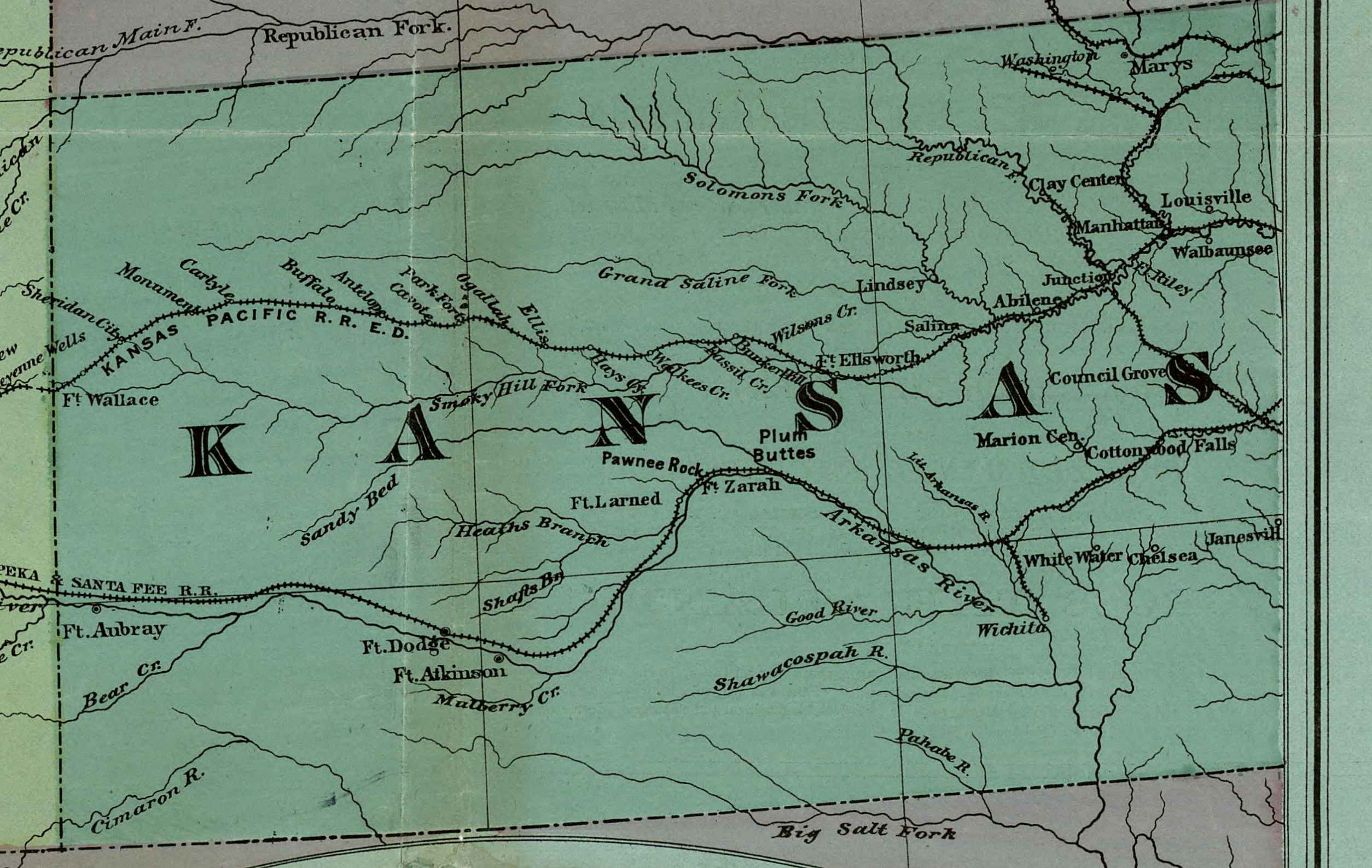 The USGenWeb Archives Digital Map Library Kansas Maps Index - Road map of kansas