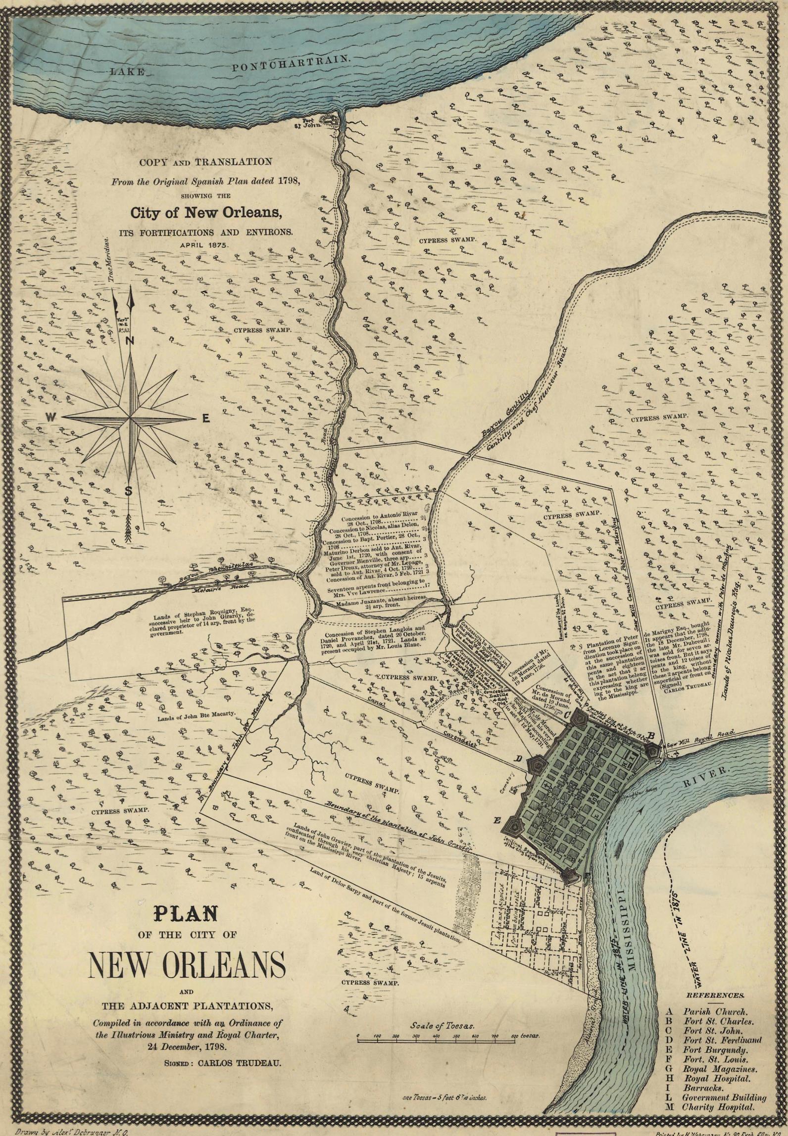 Louisiana Parish Map - Historic maps louisiana
