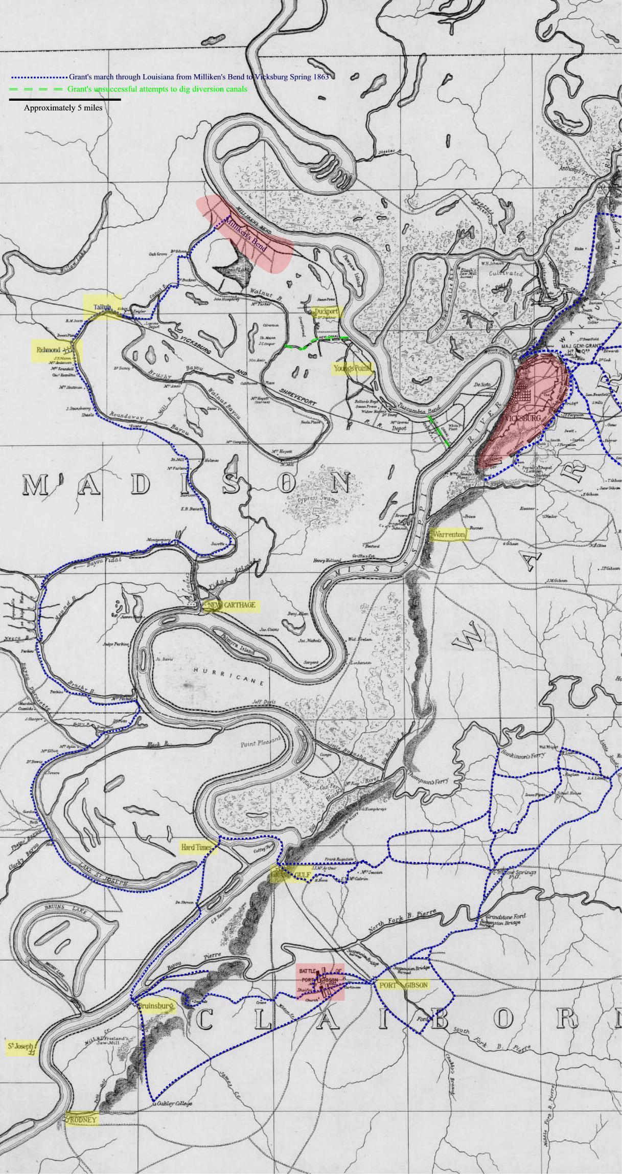 Map Of Louisiana Plantations.Madison Parish Maps