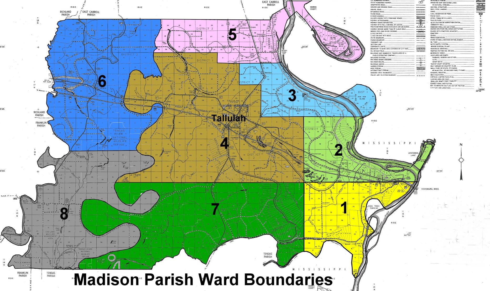 MADISON PARISH MAPS