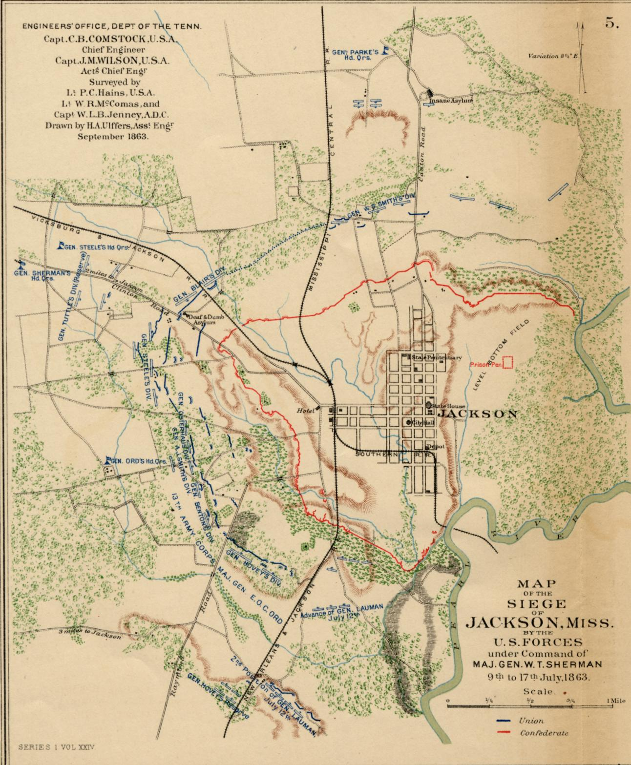 Jackson Mississippi Civil War Map