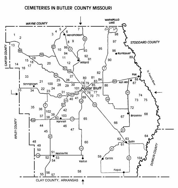 The USGenWeb Archives Digital Map Library Missouri Maps Index - Mo county map