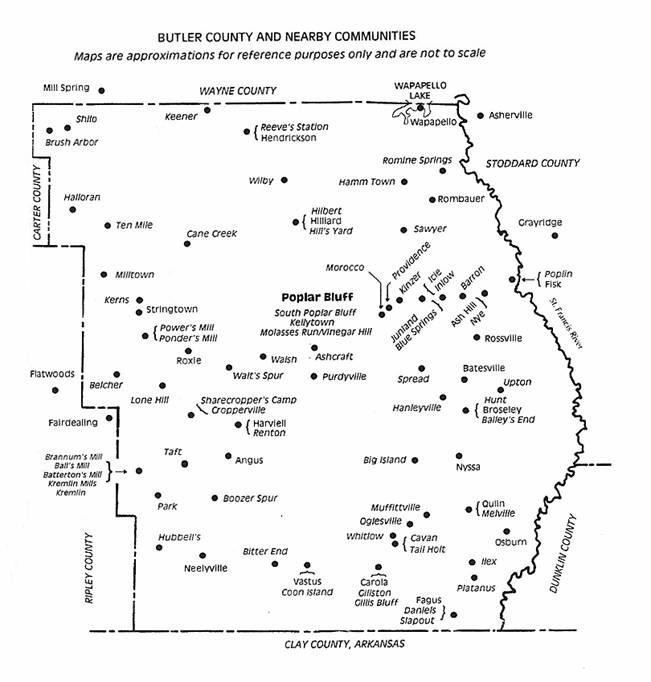 The USGenWeb Archives Digital Map Library Missouri Maps Index - Missouri county map