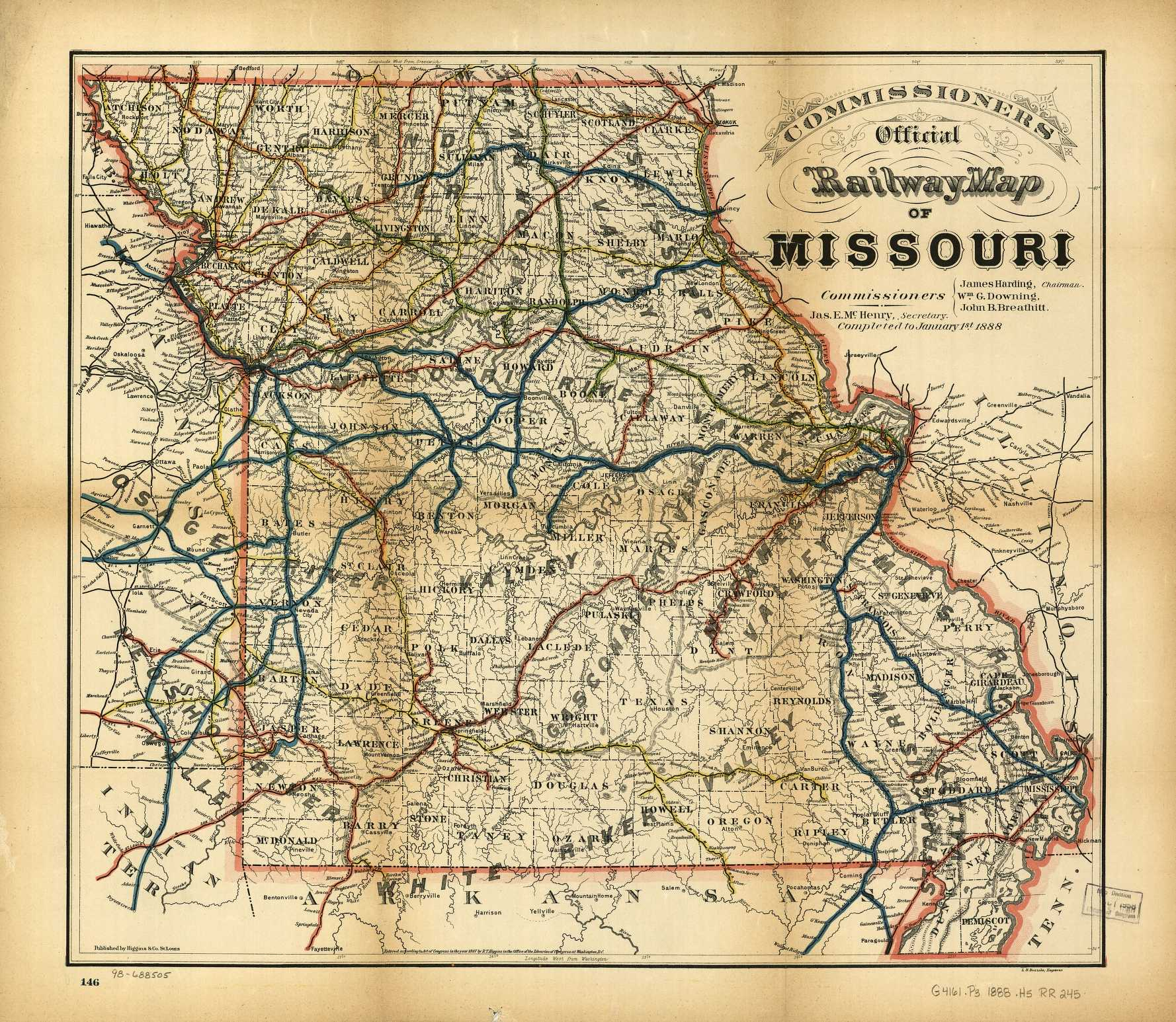 The USGenWeb Archives Digital Map Library Missouri Maps Index - Missouri map