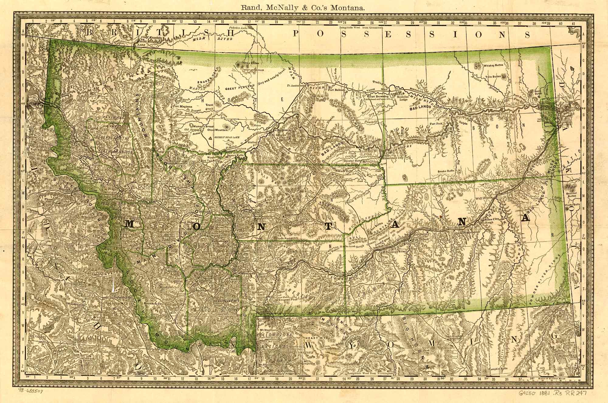 The USGenWeb Archives Digital Map Library Montana Maps Index - Montana maps
