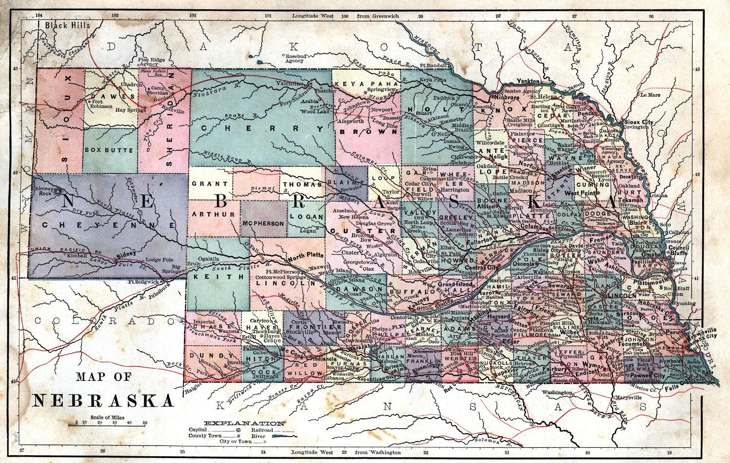 Nebraska Maps Nebraska Digital Map Library Table Of Contents - State map of nebraska