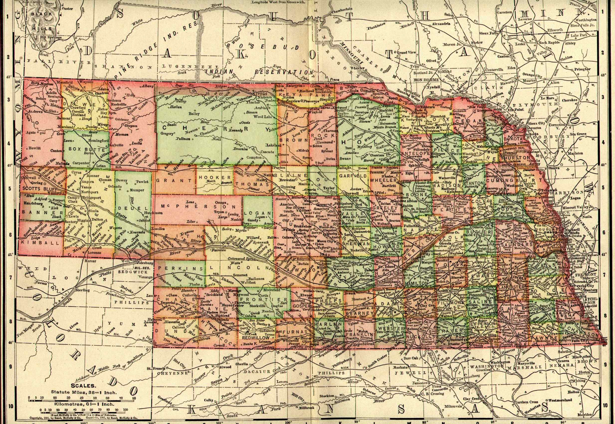 Nebraska Maps Nebraska Digital Map Library Table Of Contents - Map of nebraska towns
