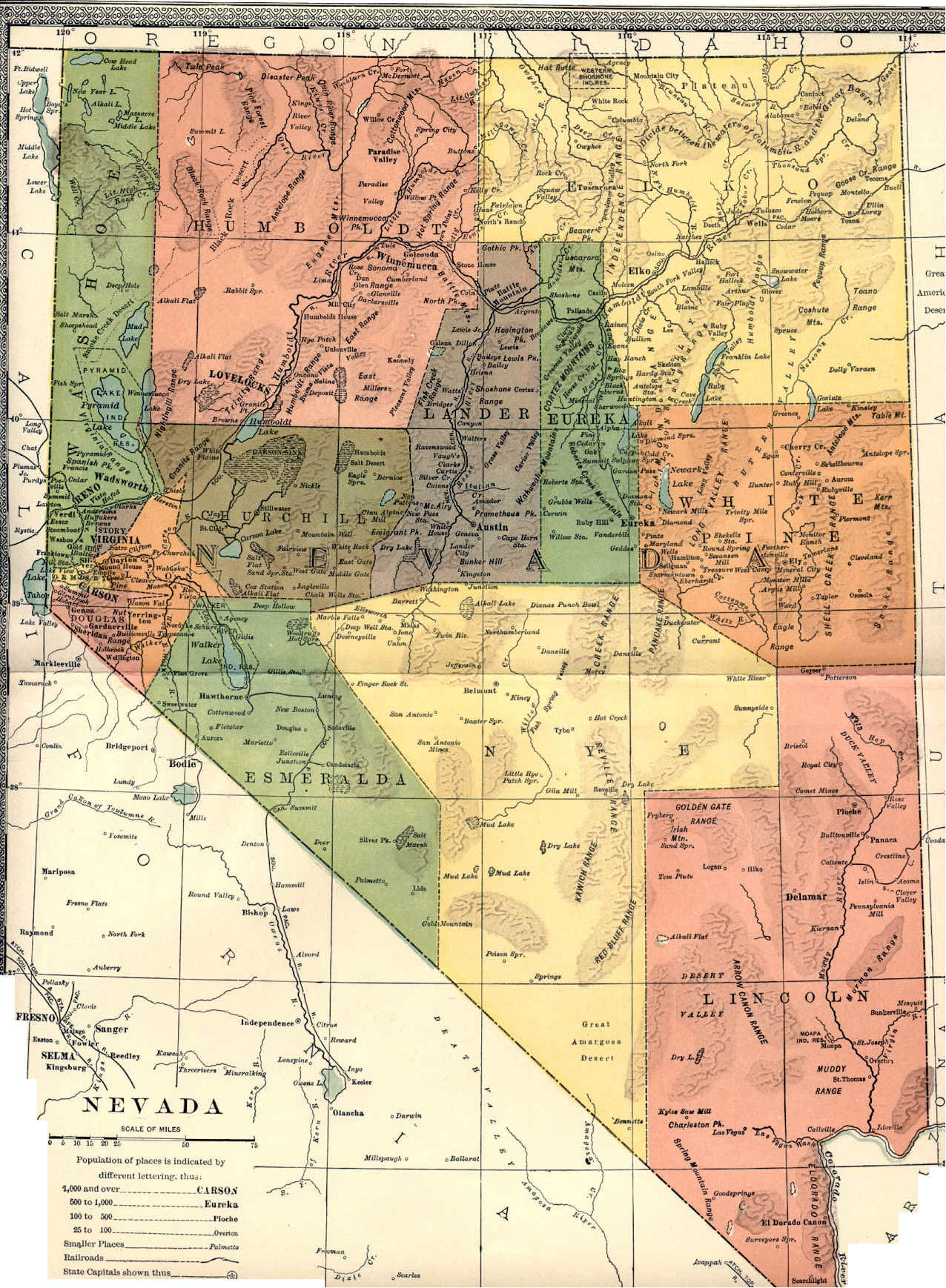 Nevada Maps Nevada Digital Map Library Table Of Contents United - Map of nv