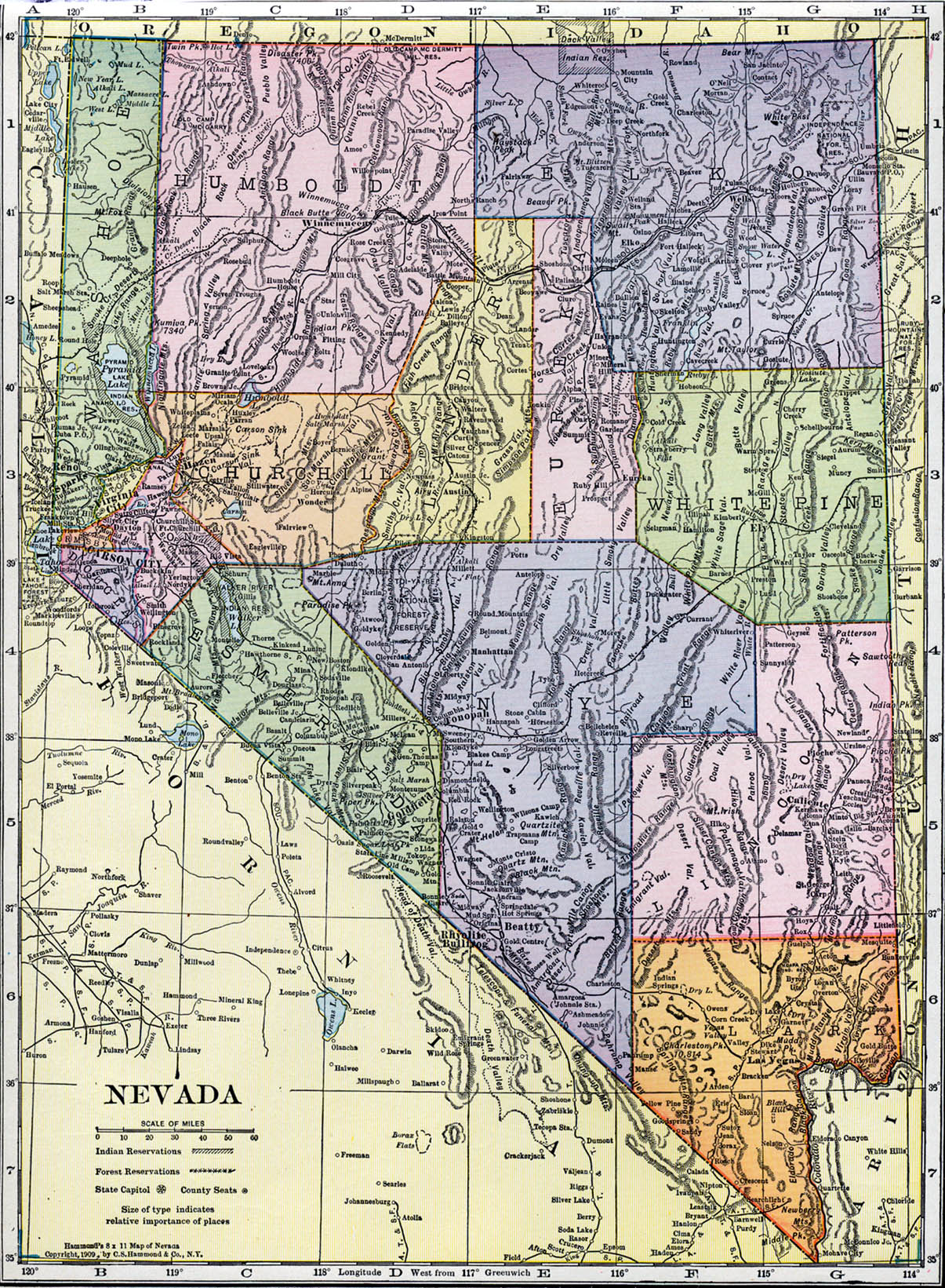 Nevada Maps Nevada Digital Map Library Table Of Contents United - Map of nevada